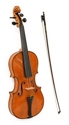 """Lot 3024 - Violin 14"""" two piece back, ebony fingerboard..."""