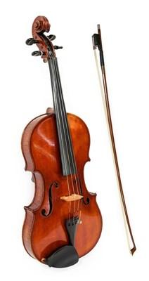 """Lot 3007 - Viola 16"""" two piece back, ebony fingerboard,..."""