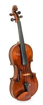 "Lot 3017 - Violin 14 1/4"" two piece back, ebony..."
