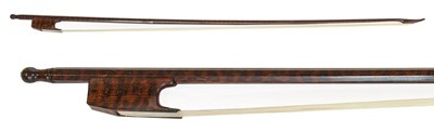 Lot 3028 - Violin Bow (Baroque) By Roger Doe stamped on...