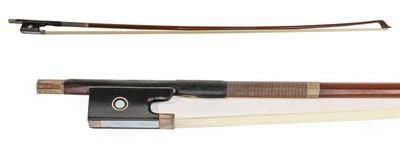 Lot 3032 - Violin Bow stamped 'Albert Nurnberger', length...