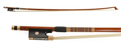 Lot 3030 - Violin Bow By Howard Green stamped with makers...