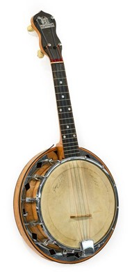 """Lot 3059 - George Formby Banjolele no.D/2025, with 7 3/4""""..."""