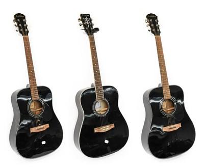 Lot 3050 - Three Acoustic Guitars Stetton Payne model...