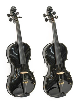 Lot 3034 - Violins both full size fitted with fitted with...