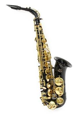 Lot 3042 - Saxophone Eb Alto black finish to body with...