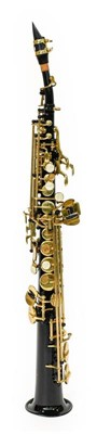 Lot 3041 - Saxophone Bb Soparano black finished body with...