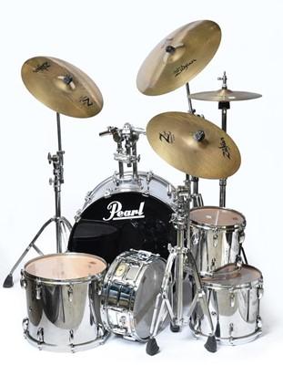 Lot 3068 - Pearl Master Studio Drum Kit consisting of...