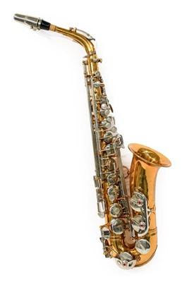 Lot 3036 - Alto Saxophone By Salem silver coloured keys,...