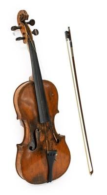 """Lot 3025 - Violin 14"""" two piece back, ebony fingerboard..."""