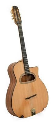Lot 3043 - Eight String Tenor Guitar ebony fingerboard,...