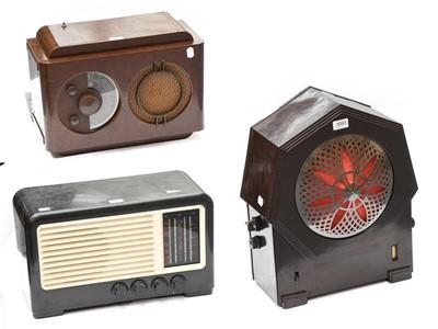 Lot 3093 - Popular Bakelite Cased Wireless Receivers: A...