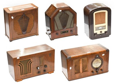 Lot 3095 - Gecophone And Other 1930s Wireless Receivers:...