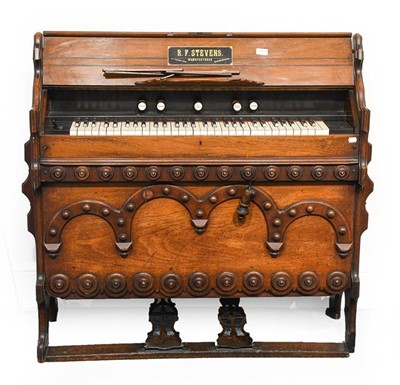 Lot 3065 - A Victorian Carved Walnut Gothic Revival Pedal...
