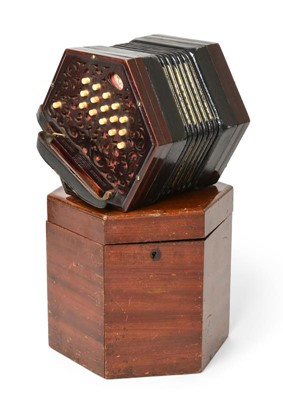 Lot 3058 - Concertina By Lachenal Anglo duet system, with...