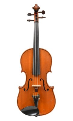 "Lot 3021 - Violin 14 1/8"" two piece back, ebony..."