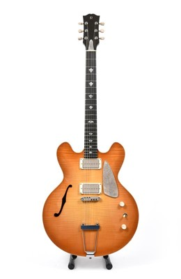 Lot 3054 - Robson Guitars Paradise 73 with flame maple...