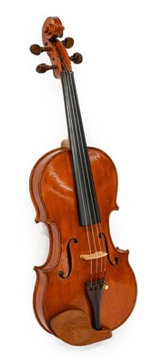 """Lot 3023 - Violin 14"""" two piece back ebony fingerboard..."""