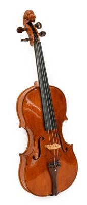 """Lot 3022 - Violin 14"""" one piece back ebony fingerboard..."""