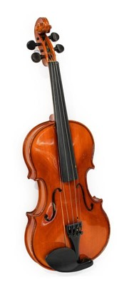 """Lot 3013 - Violin 12 1/2"""" two piece back, labelled..."""