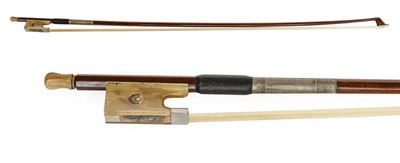 Lot 3033 - Violin Bow stamped 'J S LaPierre' length...