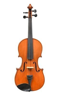 "Lot 3015 - Violin 14 1/4"" two piece back, ebony..."