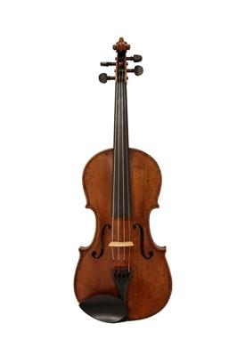 "Lot 3020 - Violin 14 1/8"" two piece back, ebony..."