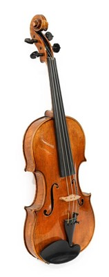 "Lot 3014 - Violin 13 7/8"" two piece back, ebony..."