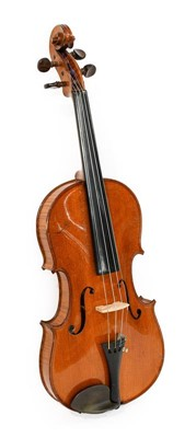 "Lot 3016 - Violin 14 1/4"" two piece back, ebony..."