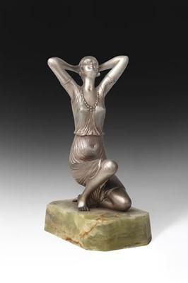 Lot 2066 - Henri Fugère (French, 1872-1944): An Art Deco...