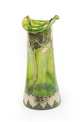 Lot 2056 - An Art Nouveau Loetz Green Iridescent Glass...