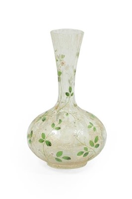 Lot 2057 - An Art Nouveau Bohemian Enamelled Crackle...