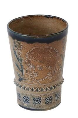 Lot 2012 - A C.J.C Bailey Fulham Pottery Stoneware Beaker,...