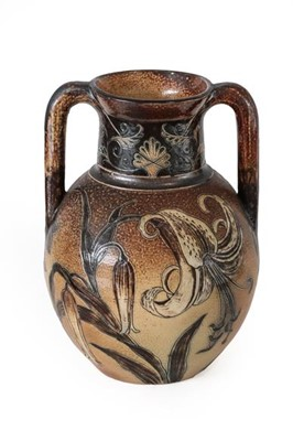 Lot 2006 - A Martin Brothers Stoneware Twin-Handled Vase,...