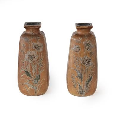 Lot 2005 - A Pair of Martin Brothers Stoneware Vases,...