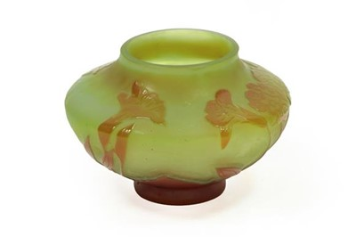 Lot 2051 - A GallCameo Glass Vase, with acid etched...