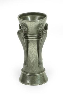 Lot 2062 - A Liberty & Co: A Tudric Pewter Vase, model No....