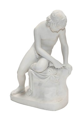 Lot 7 - A 19th century Parian sculpture of Narcissus,...