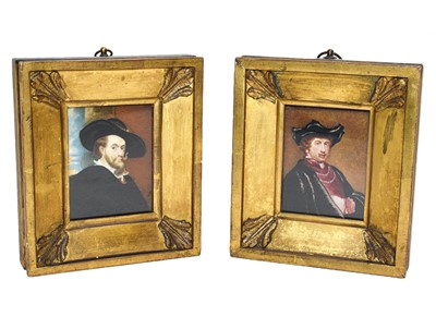 Lot 53 - A pair of watercolour on ivory miniatures,...