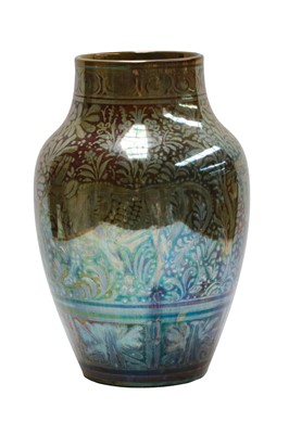 Lot 1 - A Pilkington's Royal Lancastrian lustre vase,...