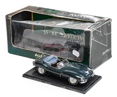 Lot 73 - Auto Art 1:18 Scale Jaguar XKSS in display...