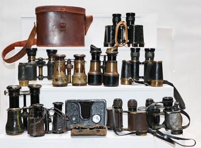 Lot 9 - A pair of Second World War binoculars by...