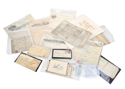 Lot 83 - A collection of hand written letters, many pre-...