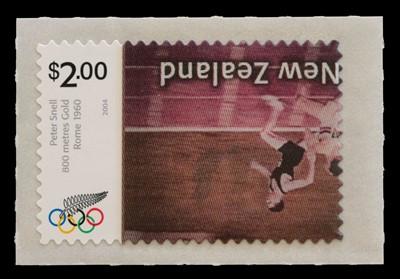 Lot New Zealand, 2004 Olympics $2 inverted lenticular