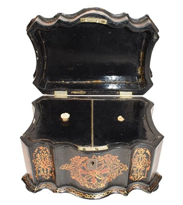 Lot 78 - A Victorian papier mache mother of pearl...