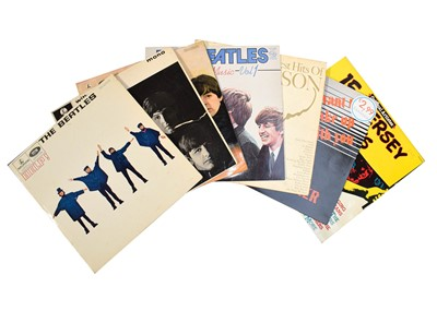 Lot 84 - The Beatles, three LP mono records, Help, With...
