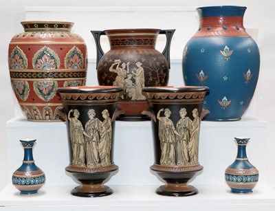 Lot 20 - A quantity of Mettlach pottery including a...