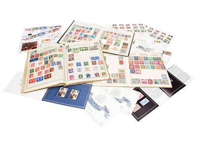 Lot 66 - Hundreds of pre 1950's stamps in three vintage...