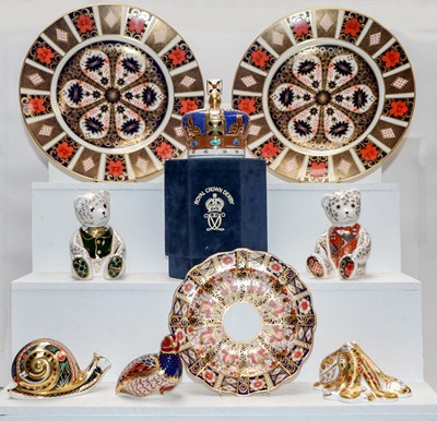 Lot 3 - Royal Crown Derby paperweights including...