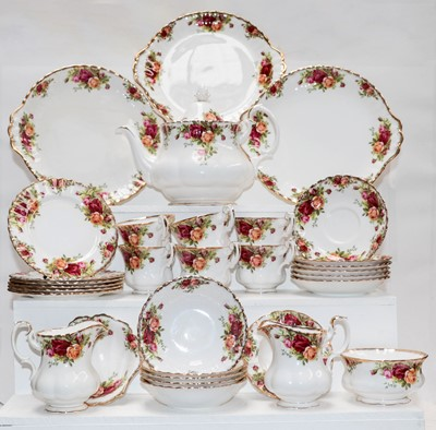 Lot 4 - Royal Albert Old Country Roses, six place tea...
